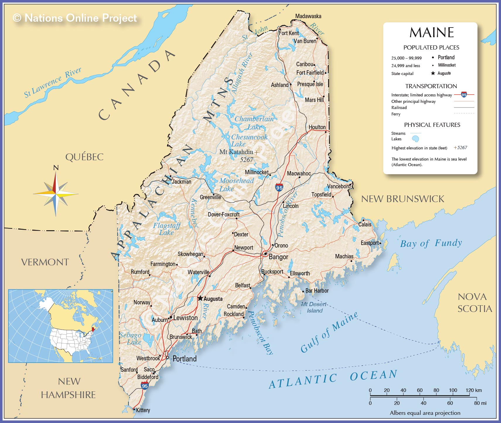 Maps: Map Maine