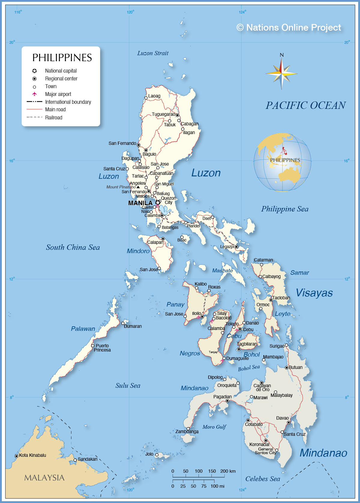 Picture of: Political Map Of The Philippines Nations Online Project