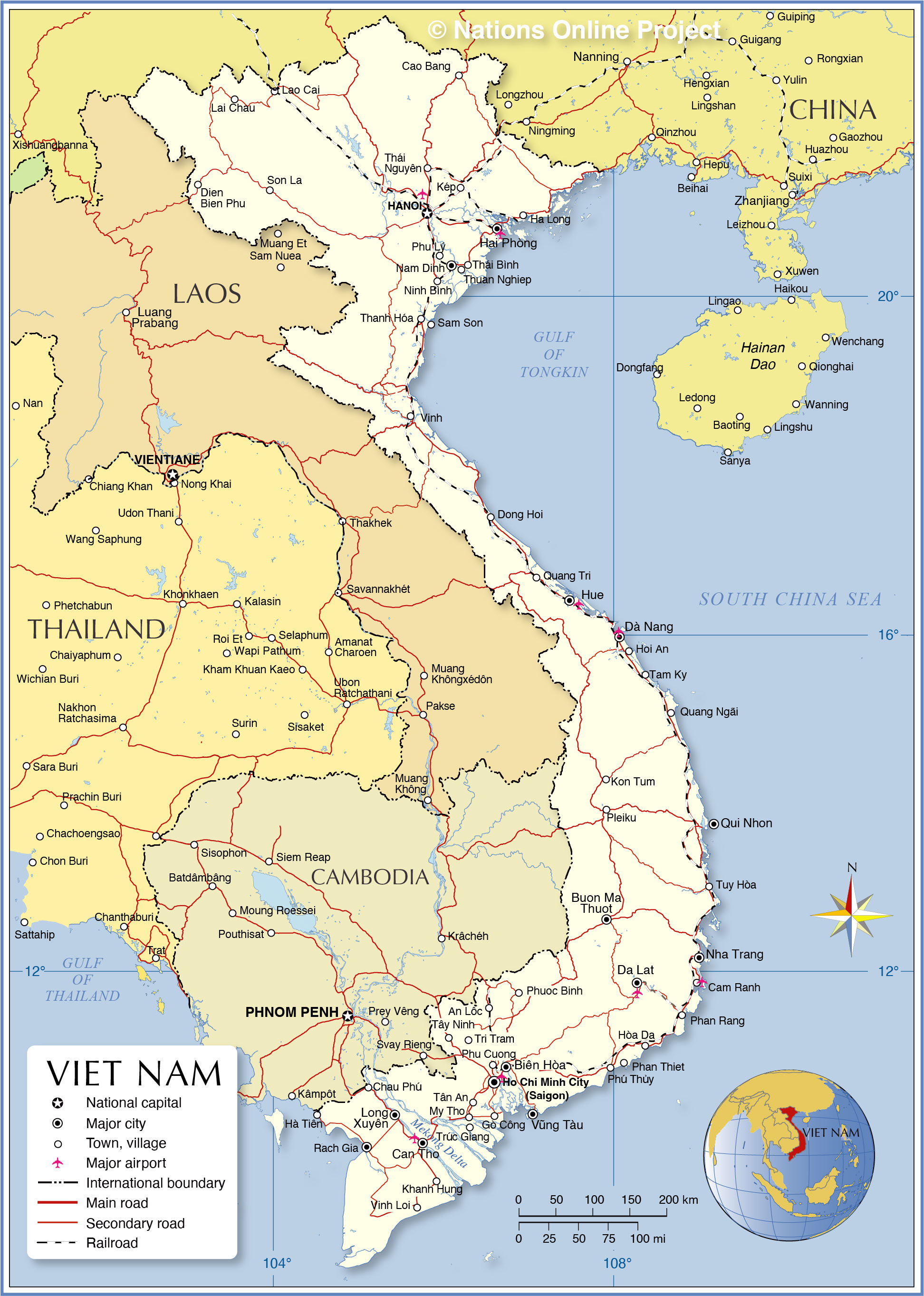 Image of: Political Map Of Vietnam Nations Online Project